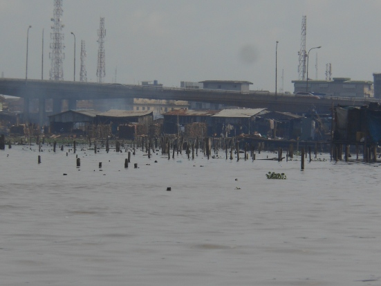 Stilt homes that were destroyed in July 2012